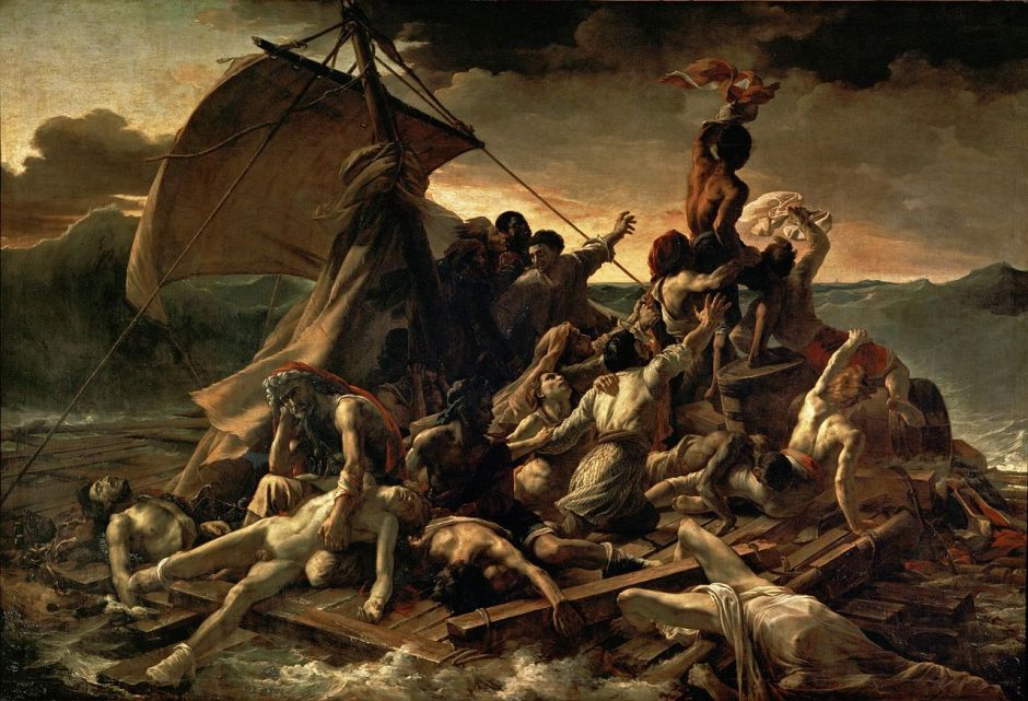 Théodore Géricault, The Raft of the Medusa (1818-9), oil on canvas, 491 x 716 cm, Musée du Louvre, Paris. WikiArt.