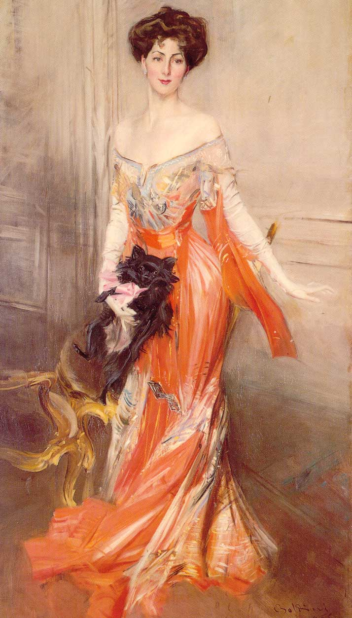 Giovanni Boldini, Portrait of Elizabeth Wharton Drexel (1905), oil on canvas, 219 x 120 cm, The Elms (Preservation Society of Newport), RI. WikiArt.