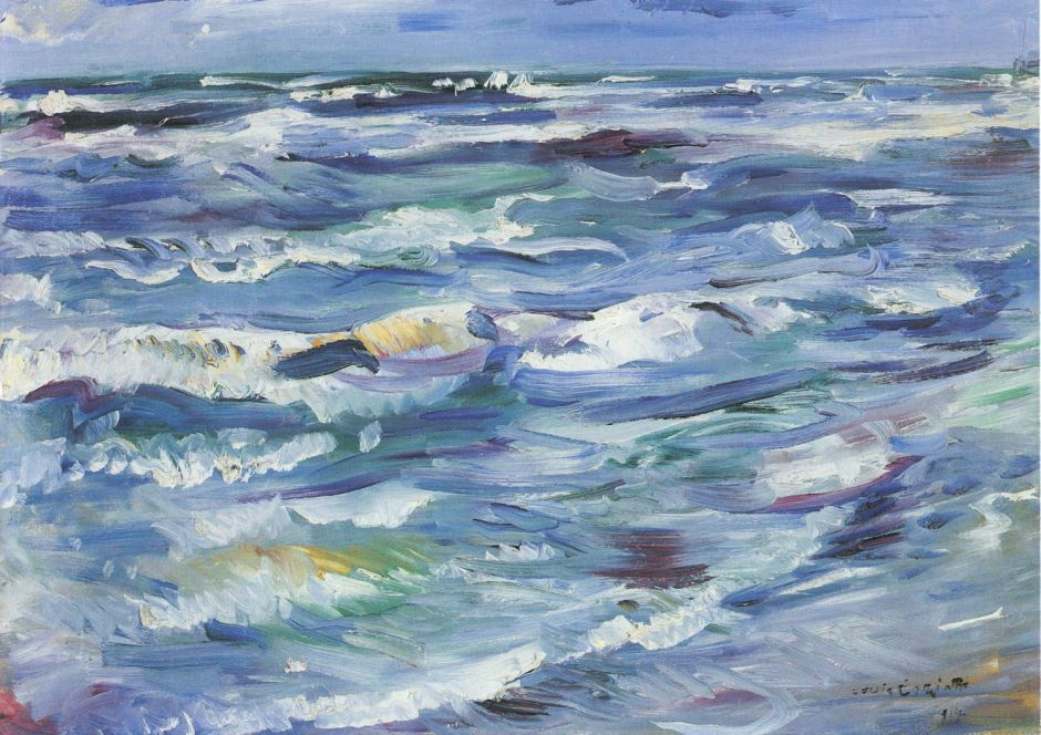Lovis Corinth, Meer bei La Spezia (The Sea at La Spezia) (1914), oil on canvas, 60 x 80 cm, Kunsthalle Mannheim, Mannheim. Wikimedia Commons.