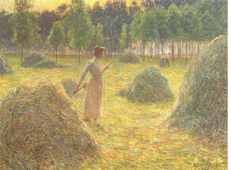 Émile Claus, Les Glaneuses (Gleaners) (c 1890), oil on canvas, dimensions not known, Private collection. WikiArt.