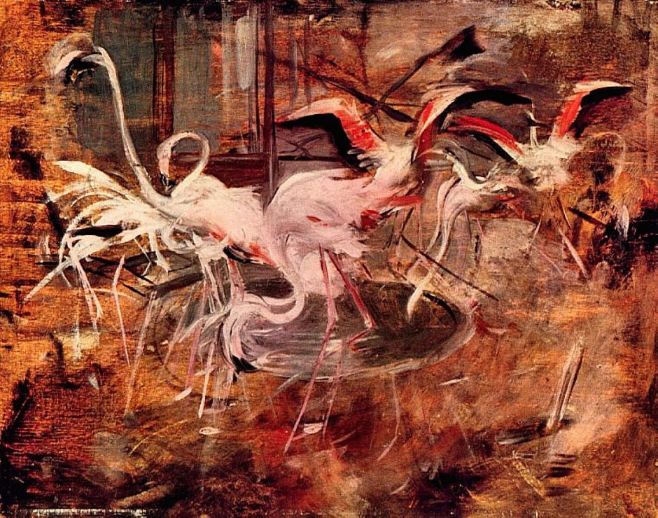 Giovanni Boldini, Ibis in the Palazzo Rosa at Vesinet (1910). WikiArt.