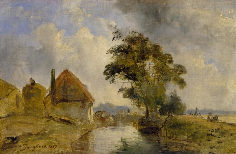 Johan Barthold Jongkind, Environs of Breda (1857), oil on canvas, 30.3 x 45.6 cm, Museum of Fine Art, Houston. Wikimedia Commons.