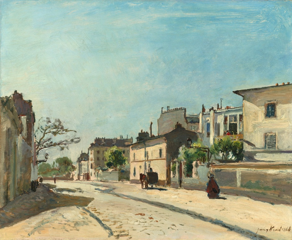 Johan Barthold Jongkind, Rue Notre-Dame, Paris (1866), oil on canvas, 39 x 47 cm, Rijksmuseum, Amsterdam. Wikimedia Commons.