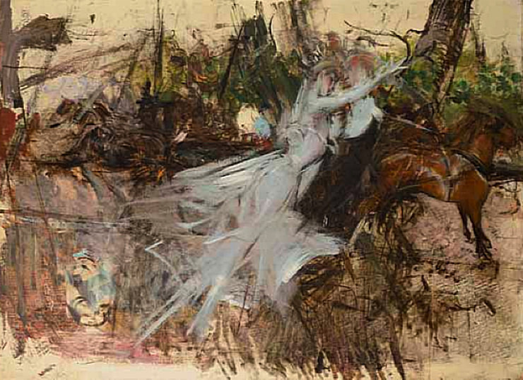 Giovanni Boldini, A Midsummer Night's Dream (1897), oil on canvas, 81 x 116.5 cm. WikiArt.