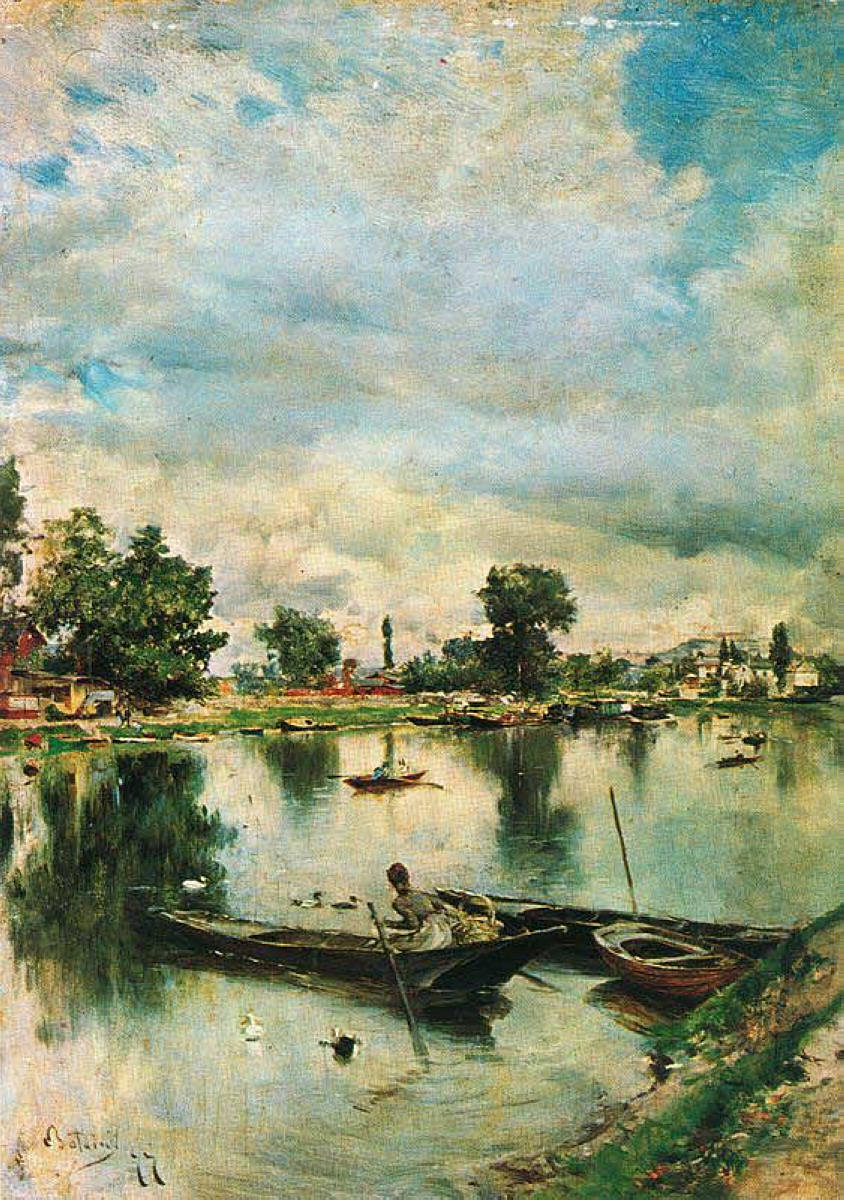 Giovanni Boldini, River Landscape, no further details known. WikiArt.