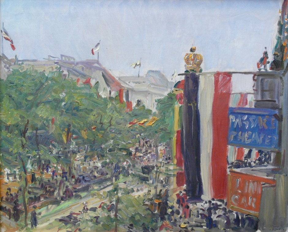 Max Slevogt, Unter den Linden (Under the Limes) (1913), oil on canvas, dimensions not known, Alte Nationalgalerie, Berlin. Wikimedia Commons.