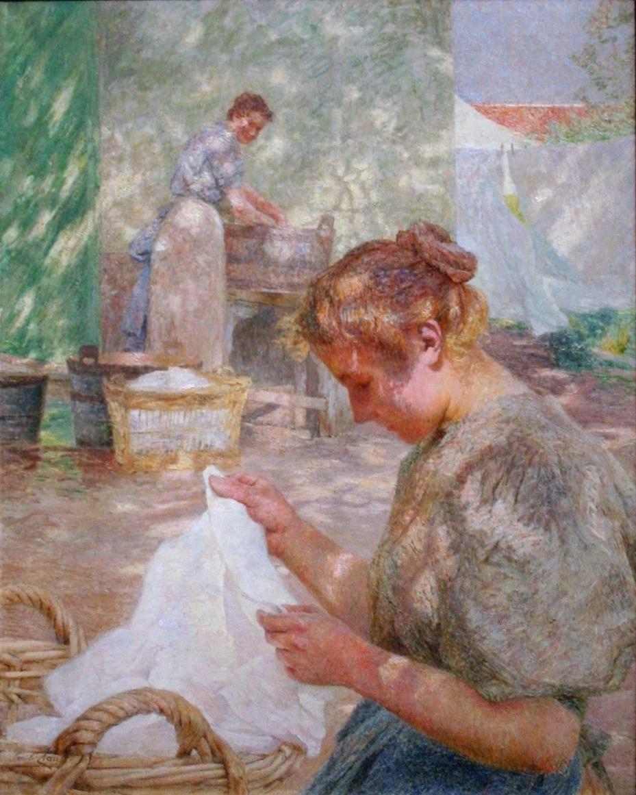 Émile Claus, Jour ensoleillé (Sunny Day) (1899), oil on canvas, 92.7 x 73.5 cm, Musée des Beaux-Arts, Gent. WikiArt.