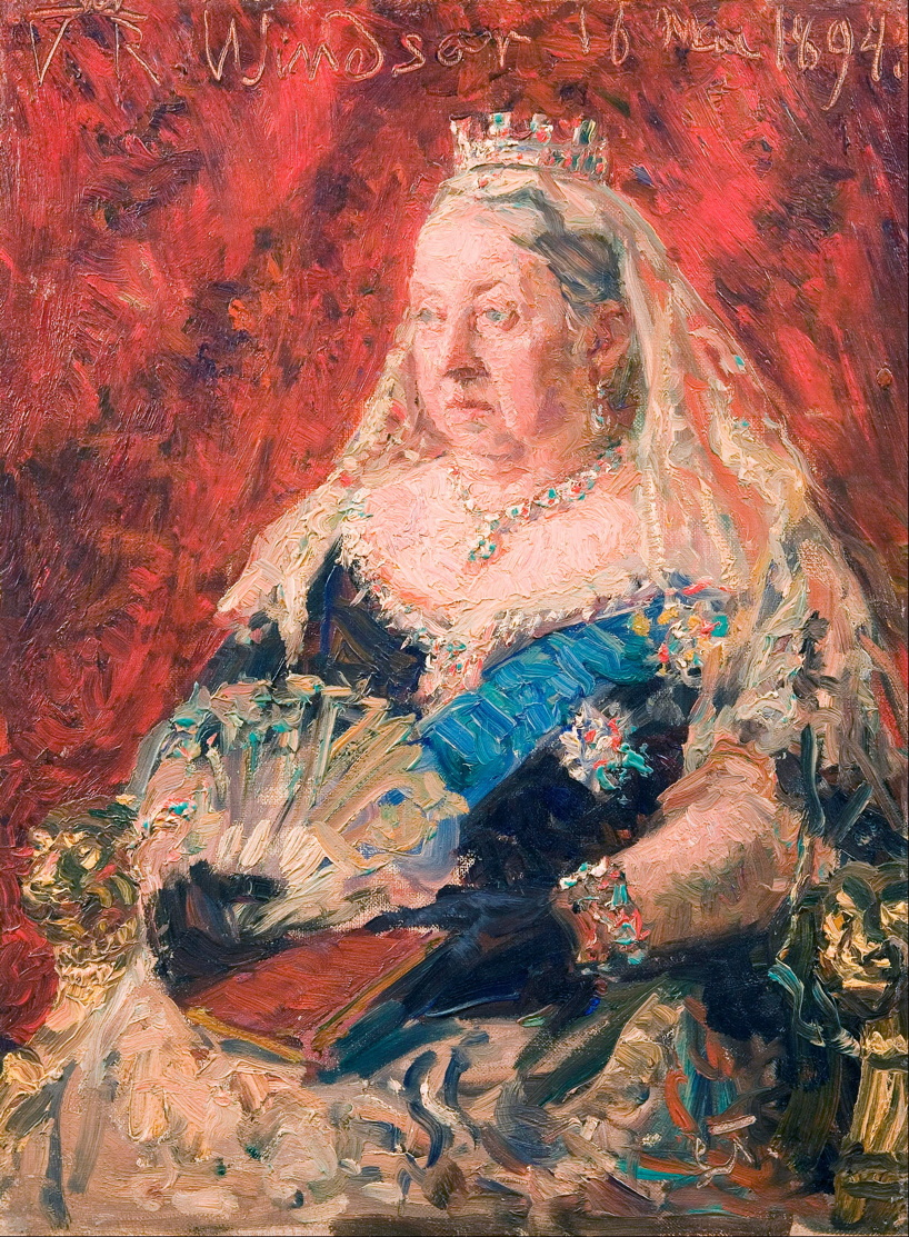 Laurits Tuxen, Portrait of Queen Victoria (1894), oil on canvas, 41 x 30.5 cm, The Hirschsprung Collection, Denmark. Wikimedia Commons.