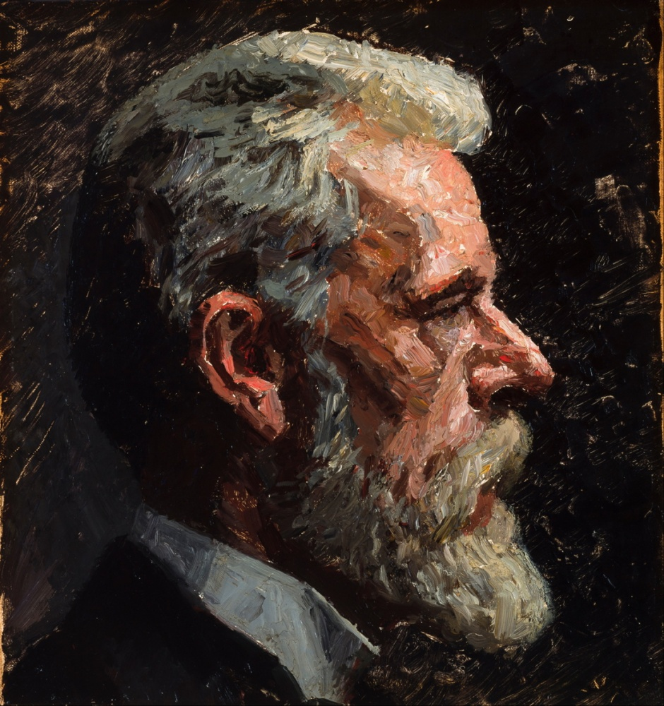 Laurits Tuxen, Self-portrait (1911), oil on canvas, 35 x 33 cm, Skagens Museum, Denmark. Wikimedia Commons.