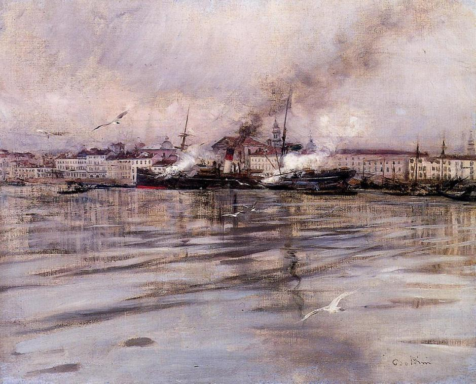 Giovanni Boldini, A View of Venice (1895), oil on canvas, Private collection. WikiArt.