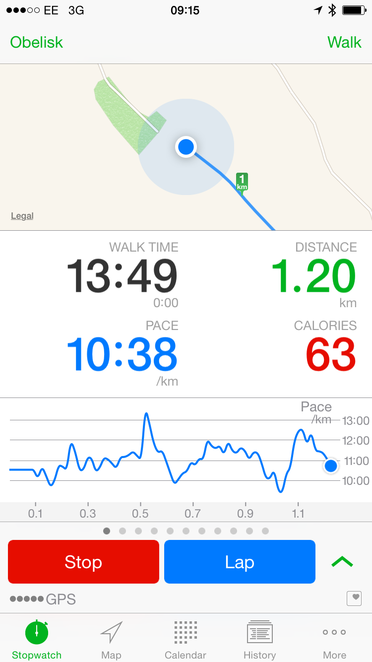 Abvio's Walkmeter is apparently unable to acquire heart rate data from the Apple Watch.