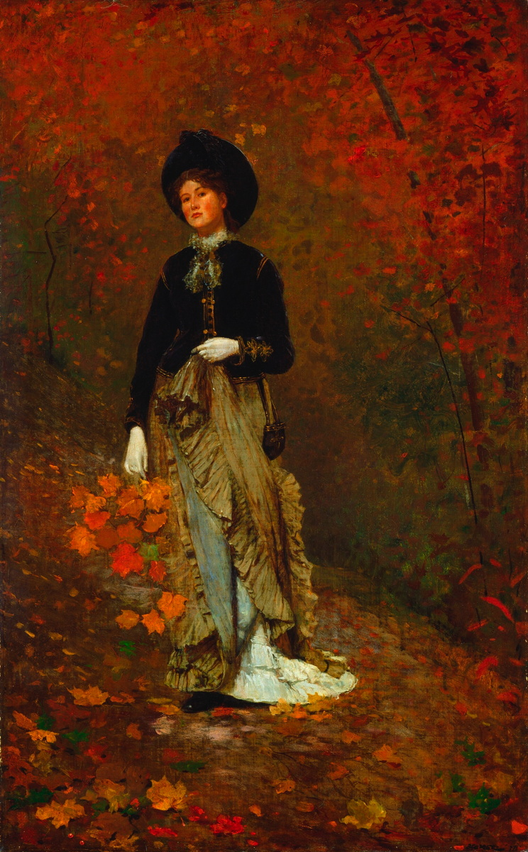 Winslow Homer, Autumn (1877), oil on canvas, 97.1 x 58.9 cm, The National Gallery of Art, Washington, DC. Wikimedia Commons.
