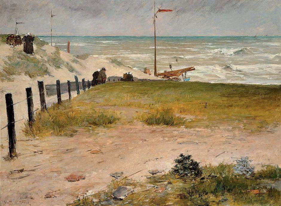 William Merritt Chase, The Coast of Holland (1884), oil on canvas, 150 x 203.2 cm, Frye Art Museum, Seattle, WA. WikiArt.