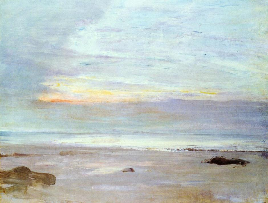 James Abbott McNeill Whistler, Crepuscule in Opal: Trouville (1865), oil on canvas, 34 x 45.7 cm, Toledo Museum of Art, Toledo, OH. WikiArt.