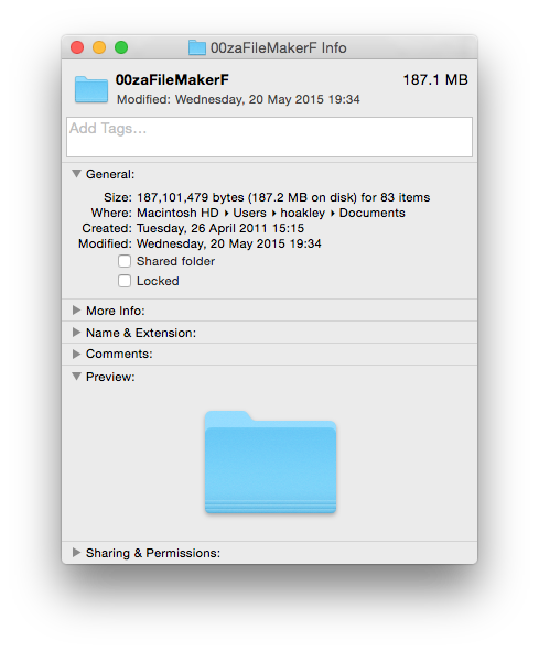 Finder's Get Info dialog will show you the date of creation and modification of a folder.