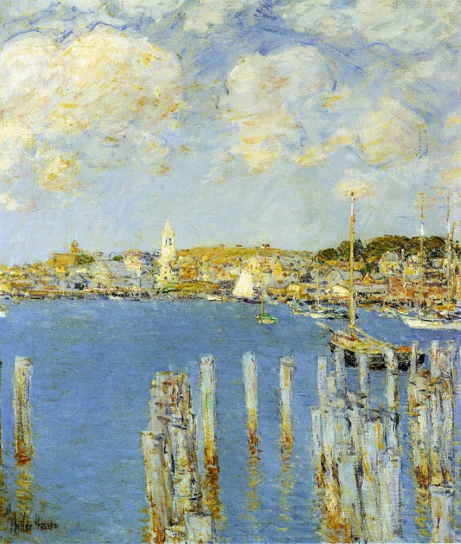 Frederick Childe Hassam, Gloucester Inner Harbor (c 1899), Oil On Canvas,