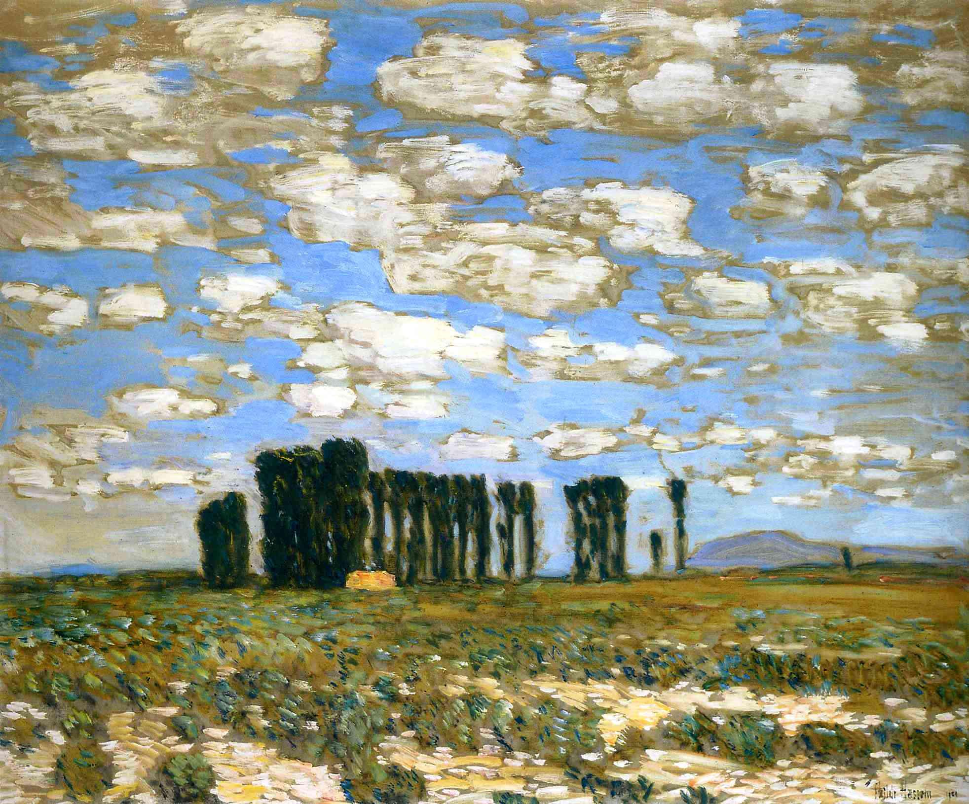 Frederick Childe Hassam, Harney Desert Landscape (1904), Oil On Canvas, 63.5
