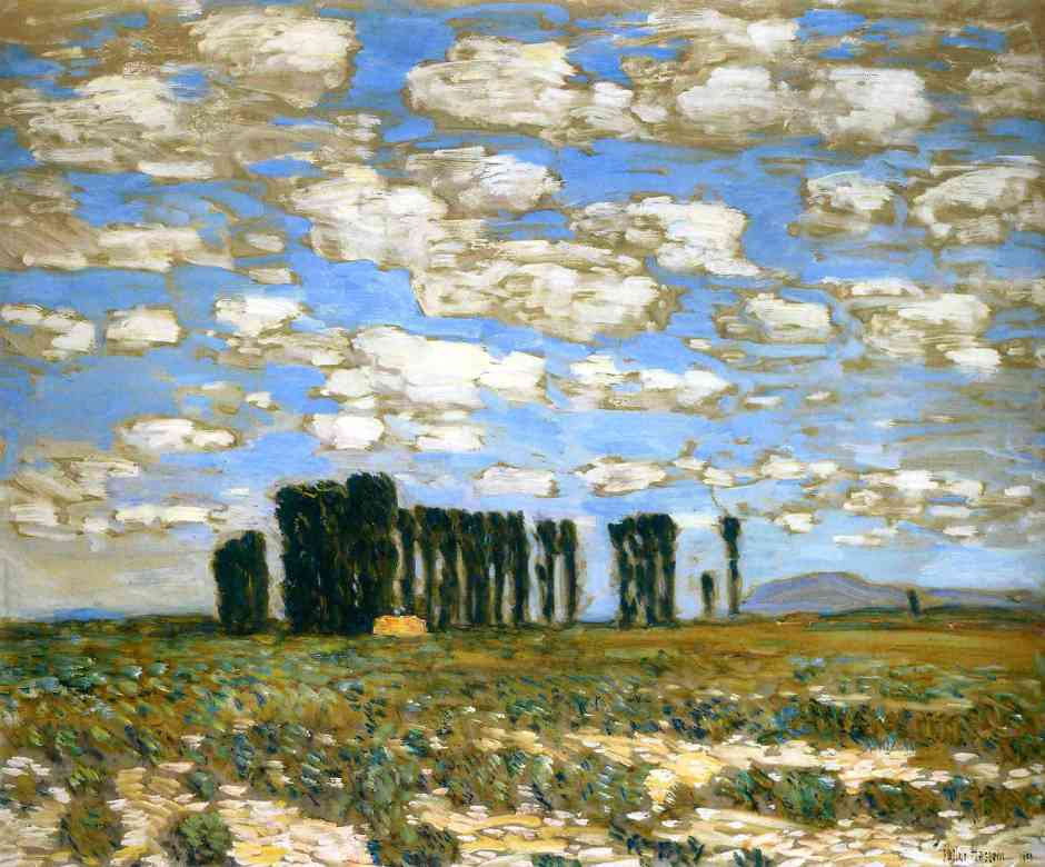 Frederick Childe Hassam, Harney Desert Landscape (1904), oil on canvas, 63.5 x 76.2 cm, Private collection. WikiArt.
