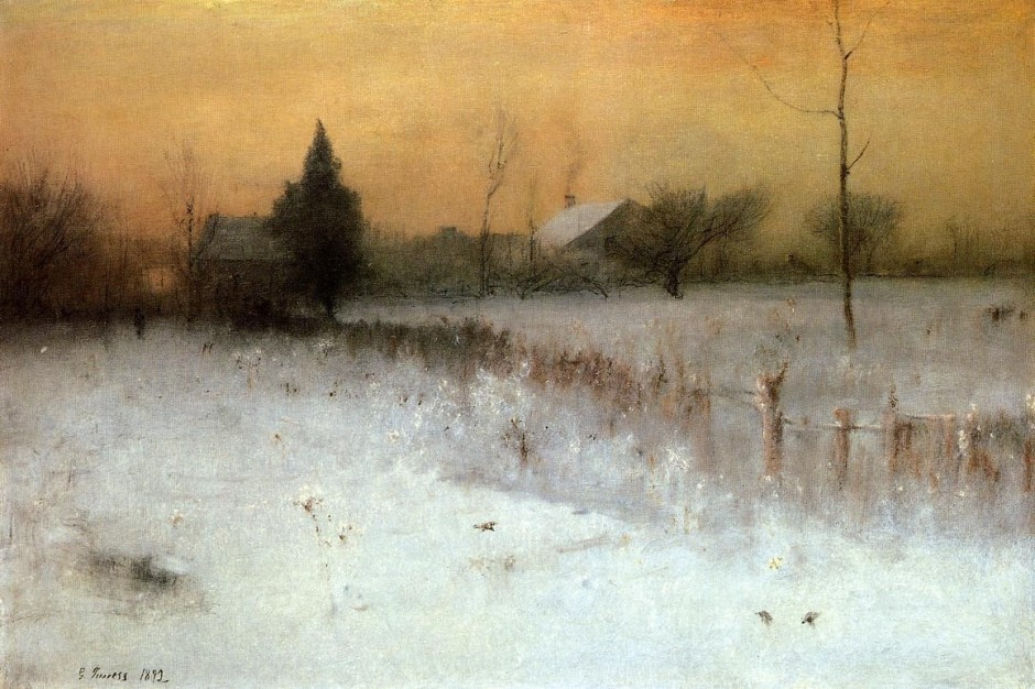 George Inness, Home at Montclair (1892), oil on canvas, 76.5 x 114.3 cm, Sterling and Francine Clark Art Institute, Williamstown, MA. Wikimedia Commons.