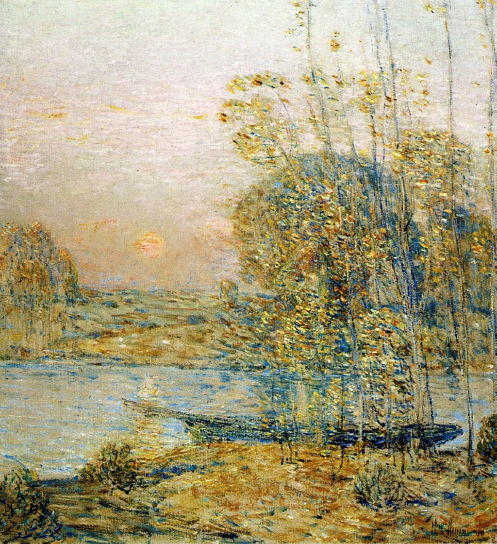 Frederick Childe Hassam, Late Afternoon (Sunset) (1903), Oil On Canvas