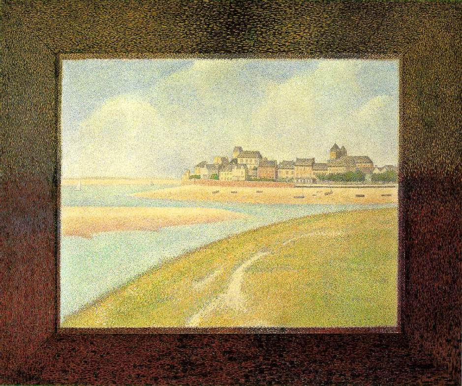 Georges Seurat, Le Crotoy (Upstream) (1889), oil on canvas, 70.5 x 86.7 cm, Detroit Institute of Arts, Detroit. WikiArt.