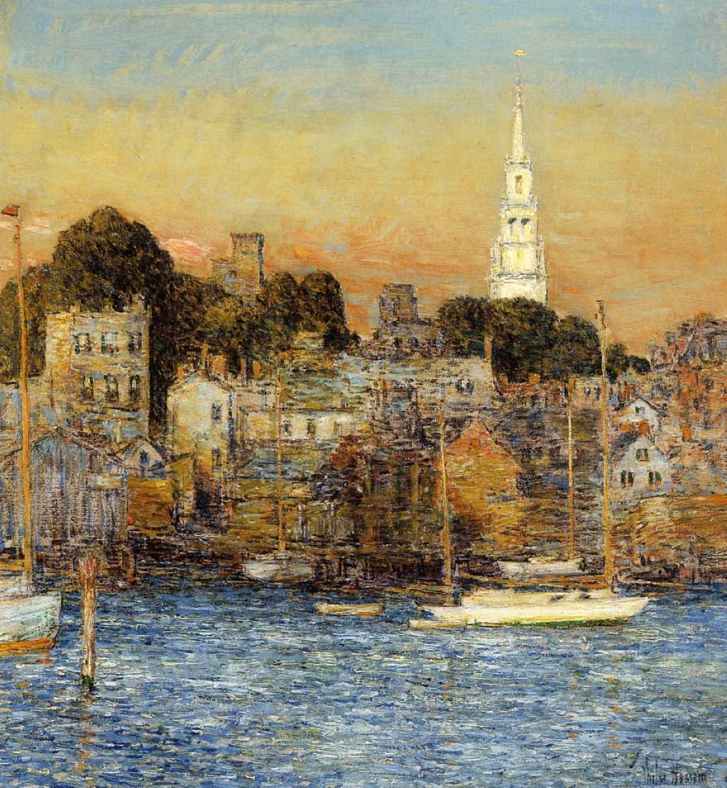 Frederick Childe Hassam, October Sundown, Newport (1901), Oil On Canvas,