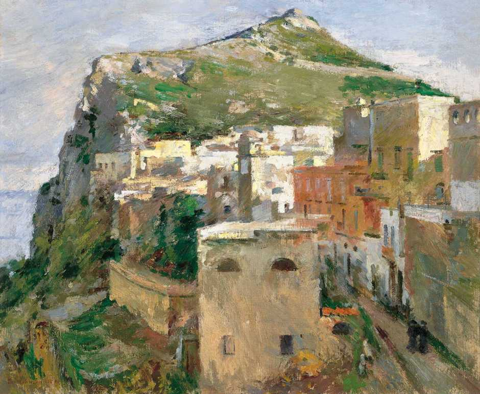 Theodore Robinson, Capri (1890), oil on canvas, 44.5 x 53.3 cm, Thyssen-Bornemisza Museum, Madrid. Wikimedia Commons.