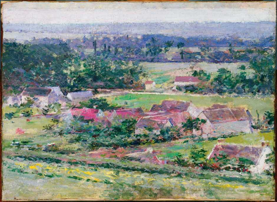 Theodore Robinson, Giverny (c 1889), oil on canvas, 40.6 x 55.9 cm, The Phillips Collection, Washington, DC. Wikimedia Commons.