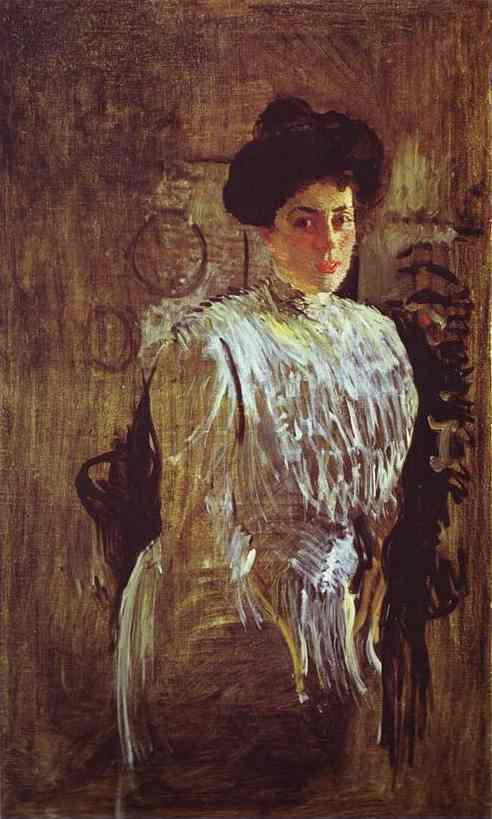Valentin Alexandrovich Serov, Portrait of Margarita Morozova (1910), oil on canvas, 143 x 84 cm, Art Museum of Dnepropetrovsk, Ukraine. WikiArt.