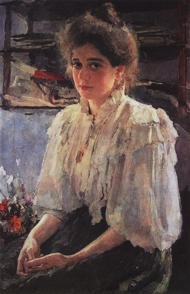 Valentin Alexandrovich Serov, Portrait of Maria Lvova (1895), oil on canvas, 87 x 58 cm, Private collection. WikiArt.