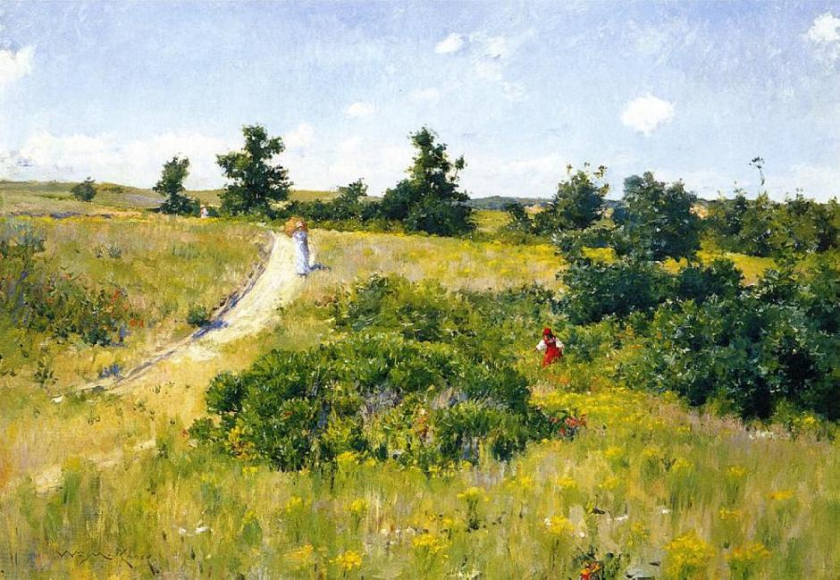 William Merritt Chase, Shinnecock Landscape with Figures (1895), oil on canvas, 148 x 211 cm, Private collection. WikiArt.