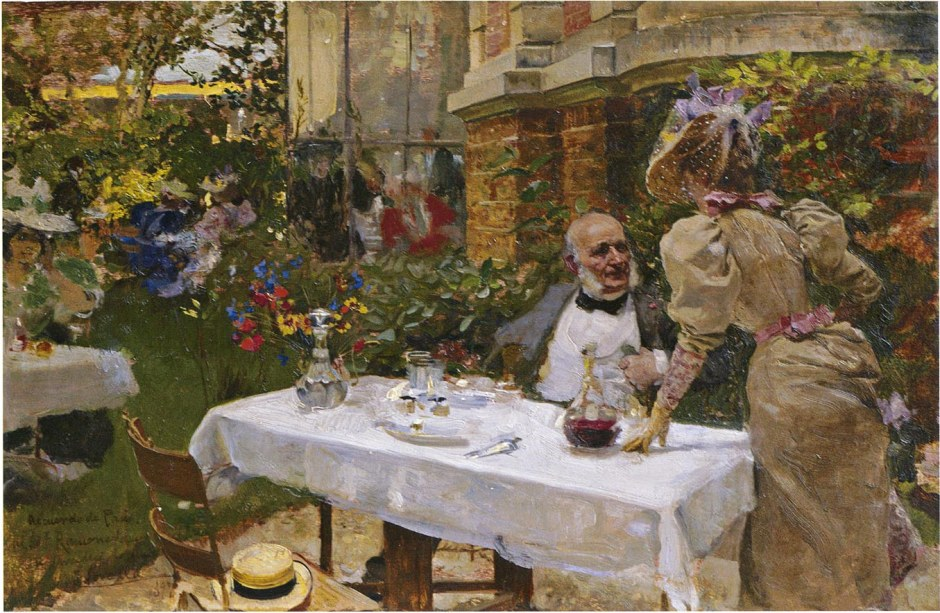 Joaquín Sorolla y Bastida, Café in Paris (1885), oil on canvas, dimensions not known, location not known. WikiArt.