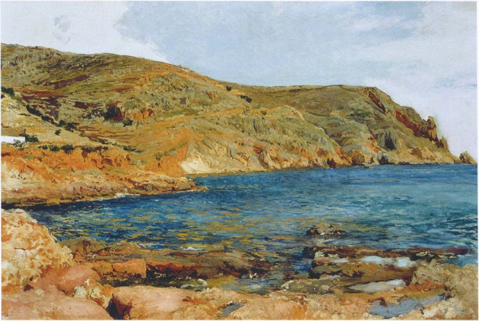 Joaquín Sorolla y Bastida, The Cape of San Antonio, Jávea (1896), oil on canvas, 48.3 x 71.8 cm, Private collection. WikiArt.
