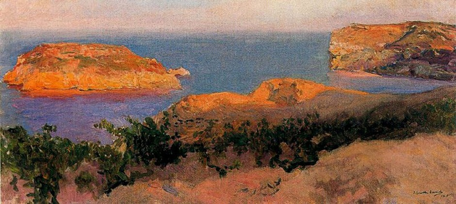 Joaquín Sorolla y Bastida, Isla del Cap Marti, Jávea (1905), oil on canvas, dimensions not known, Museo Sorolla, Madrid. WikiArt.