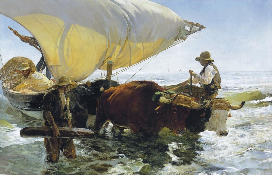 Joaquín Sorolla y Bastida, Return from Fishing (1894), oil on canvas, 265 x 403.5 cm, Musée d'Orsay, Paris. WikiArt.