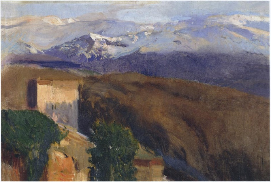 Joaquín Sorolla y Bastida, Sierra Nevada, Granada (1917), oil on canvas, 64.8 x 95.3 cm, Private collection. WikiArt.