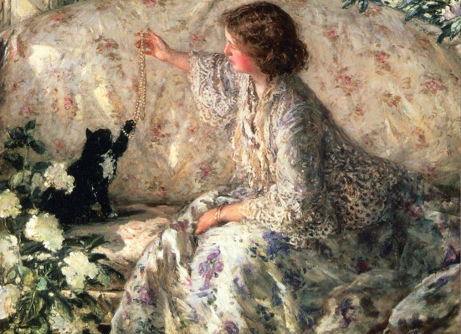 Philip Wilson Steer, Hydrangeas (1901), oil on canvas, 85.4 x 112.4 cm, The Fitzwilliam Museum, Cambridge. WikiArt.