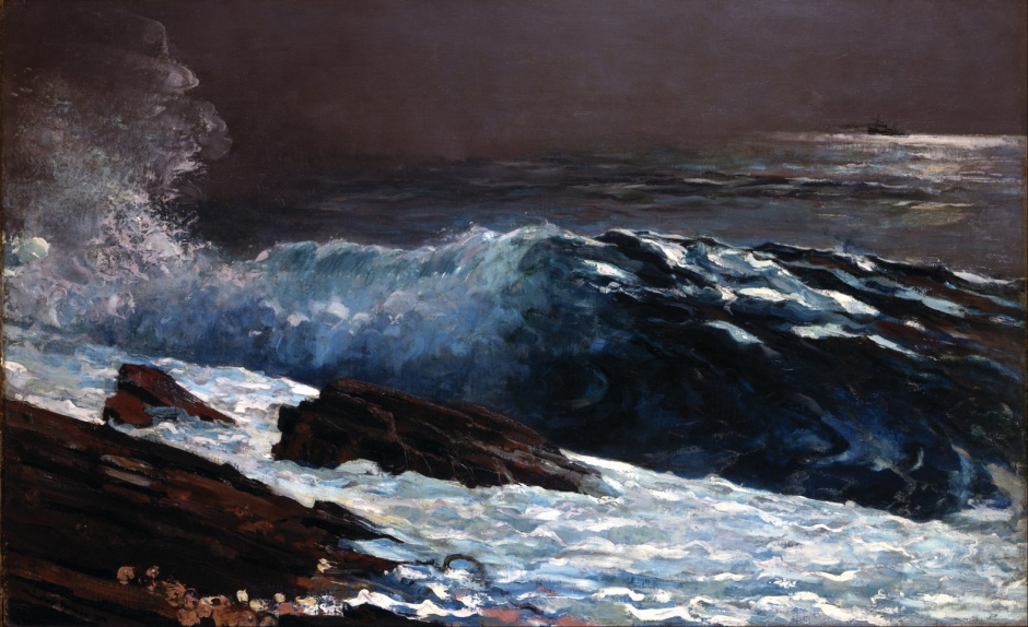 Winslow Homer, Sunlight on the Coast (1890), oil on canvas, 76.9 x 123.3 cm, Toledo Museum of Art, Toledo, OH. Wikimedia Commons.