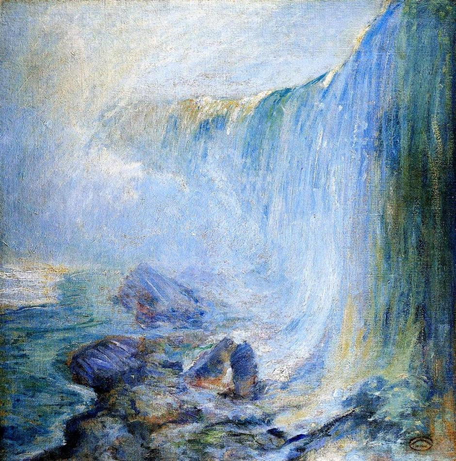 John Henry Twachtman, Niagara Falls (c 1894), oil on canvas, 76.2 x 76.2 cm, Private collection. WikiArt.