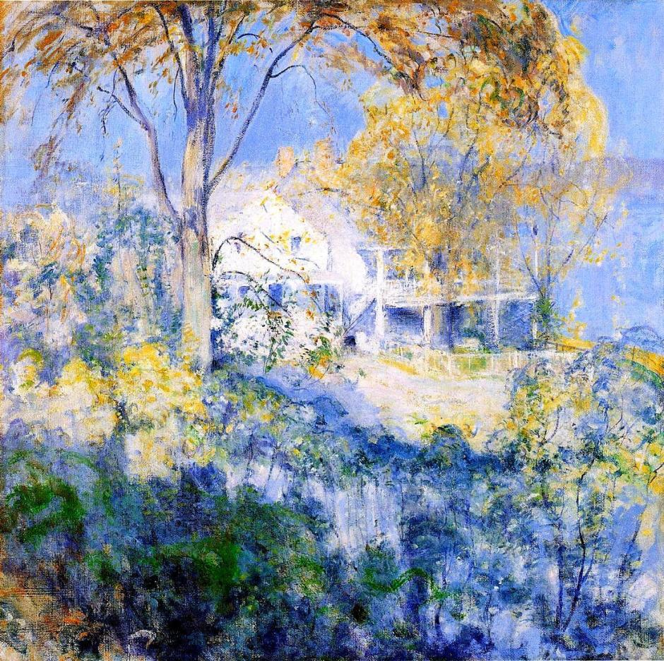 John Henry Twachtman, October (c 1901), oil on canvas, 76.2 x 76.2 cm, Chrysler Museum of Art, Norfolk, VA. WikiArt.