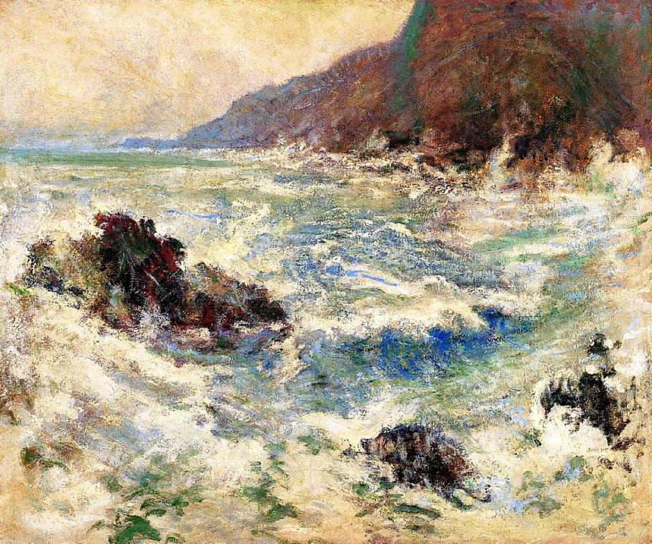 John Henry Twachtman, Sea Scene (1893), oil on canvas, 84.5 x 70 cm, Delaware Art Museum, Wilmington, Delaware. WikiArt.
