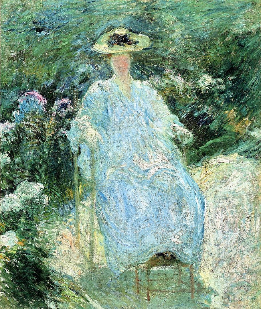 John Henry Twachtman, In the Sunlight (c 1893), oil on canvas, 76.2 x 63.5 cm, Private collection. WikiArt.