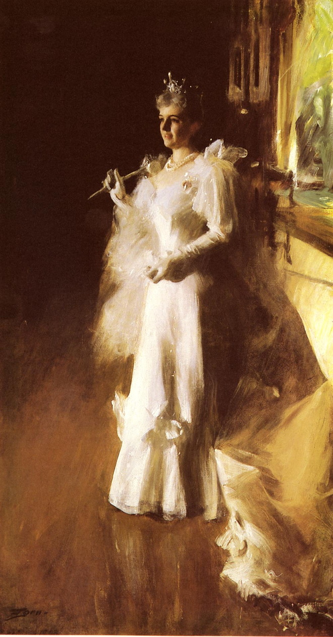 Anders Zorn, Mrs Potter Palmer (1893), oil on canvas, 258 x 141.2 cm, The Art Institute of Chicago, Chicago. Wikimedia Commons.