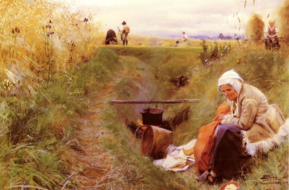 Anders Zorn, Our Daily Bread (1886), watercolor, 68 x 102 cm, Nationalmuseum, Stockholm, Sweden. WikiArt.