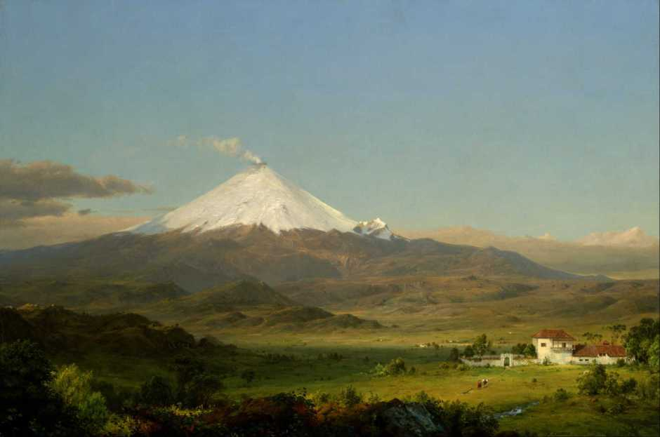 Frederic Edwin Church, Cotopaxi (1855), oil on canvas, 71 x 106.7 cm, Smithsonian American Art Museum, Washington, DC. Wikimedia Commons.
