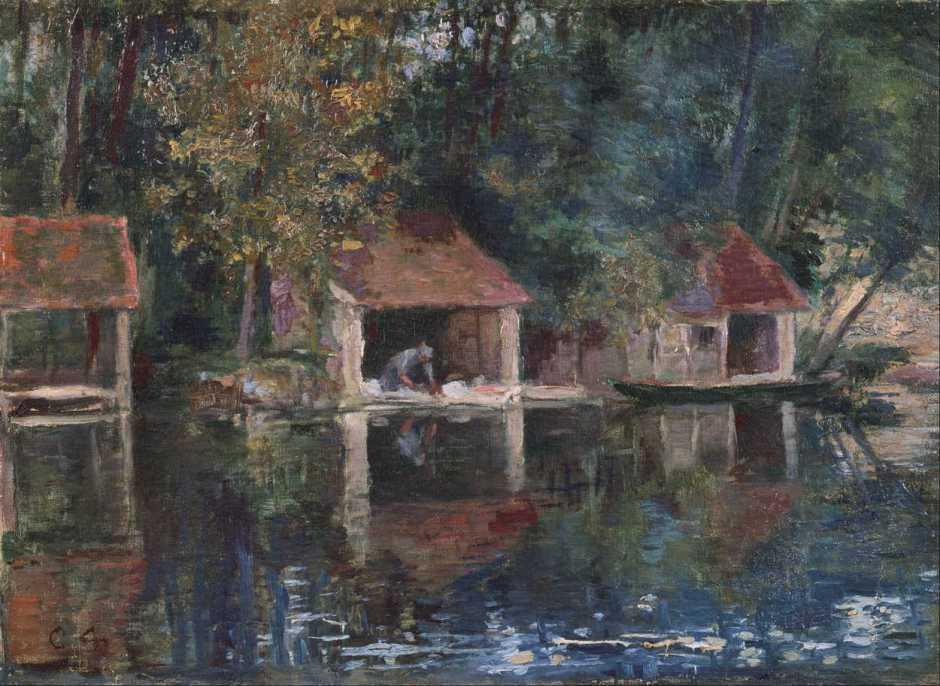 Asai Chū, Washing Place in Grez-sur-Loing (1901), oil on canvas, 33.3 x 45.5 cm, Bridgestone Museum of Art, Tokyo. Wikimedia Commons.