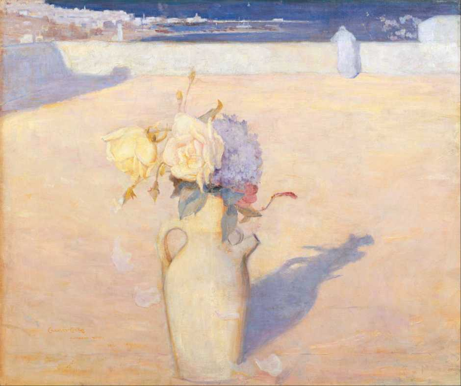 Charles Conder, The Hot Sands, Mustapha, Algiers (1891), oil on canvas, 63 x 72 cm, Art Gallery of New South Wales, Sydney. Wikimedia Commons.