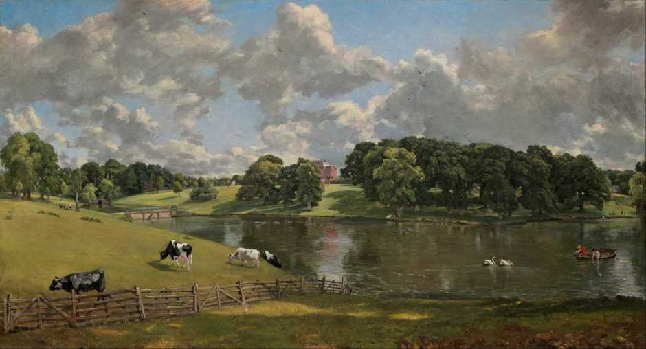 John Constable, Wivenhoe Park, Essex (1816), oil on canvas, 56.1 x 101.2 cm, The National Gallery of Art, Washington, DC. Wikimedia Commons.