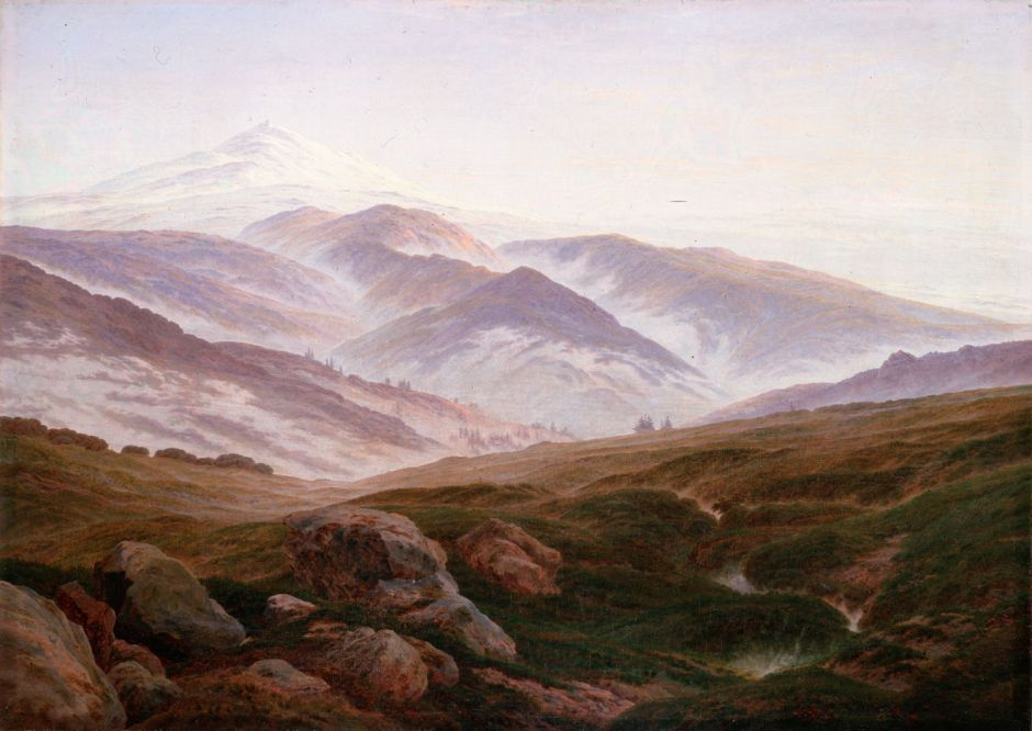 Caspar David Friedrich, The Giant Mountains (1830–35), oil on canvas, 72 × 102 cm, Alte Nationalgalerie, Berlin. Wikimedia Commons.