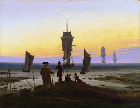 Caspar David Friedrich, The Stages of Life (1834-5), oil on canvas, 72.5 x 94 cm, Museum der Bildenden Künste, Leipzig. Wikimedia Commons.